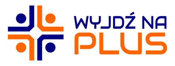 Wyjdź na plus - logo projektu