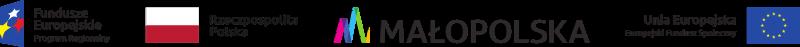 Logotypy UE, RP, Małopolska